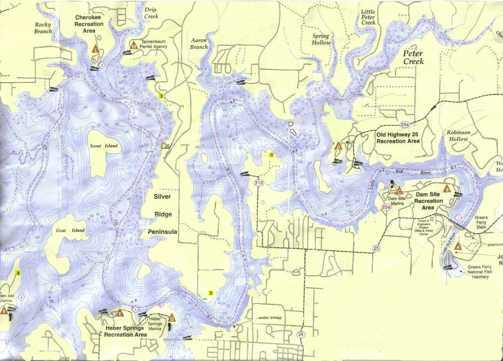 Greers Ferry Map